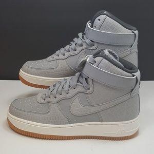 Nike Air Force 1 Hi Premium Wolf Grey (Women's)